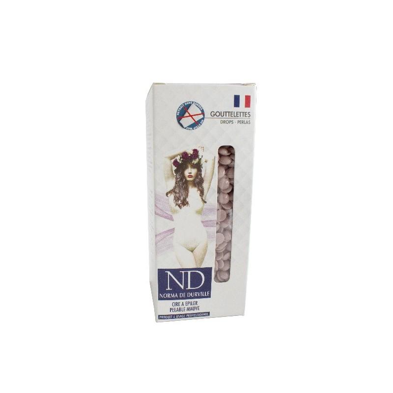 Cire épilation pelable Mauve Norma de Durville gouttelettes 800 grs