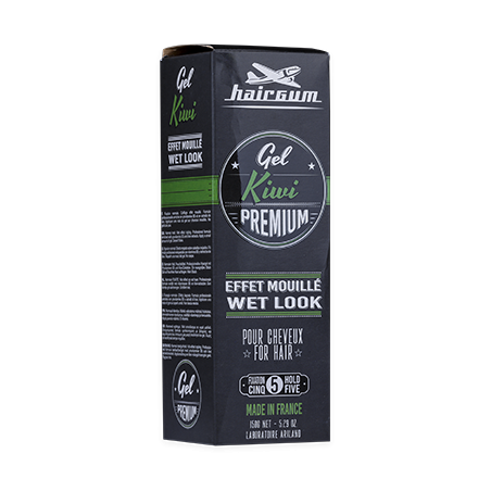 Gel effet mouillé premium Kiwi Hairgum 150 g boite