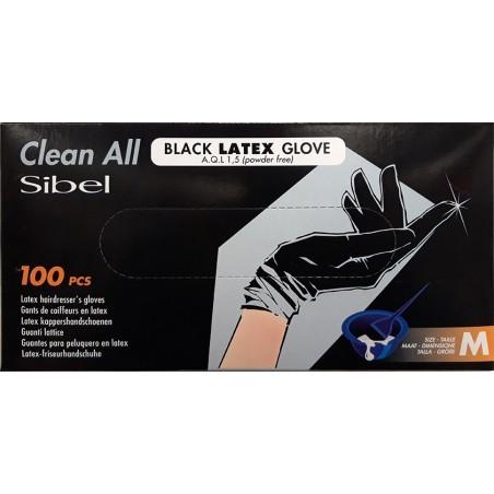 Gants latex noir x100 taille m