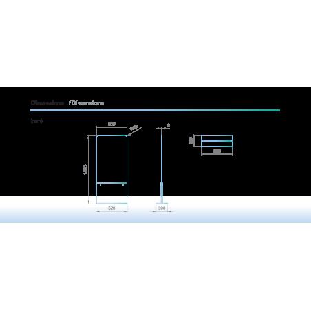dimensions Protection barrière en verre pour espace de lavage