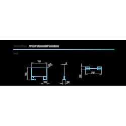 dimensions Protection barrière en verre pour espace d'accueil et manucure