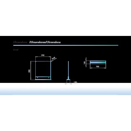 dimensions Cloison barrière en verre pour espace d'accueil