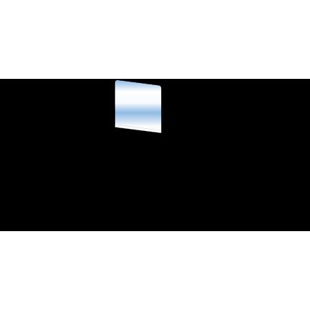 Cloison barrière en verre pour espace d'accueil