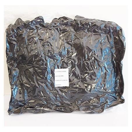 Gants latex noir x20 unités sachet