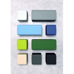 présentation vue de dessus fauteuil nao différentes couleurs