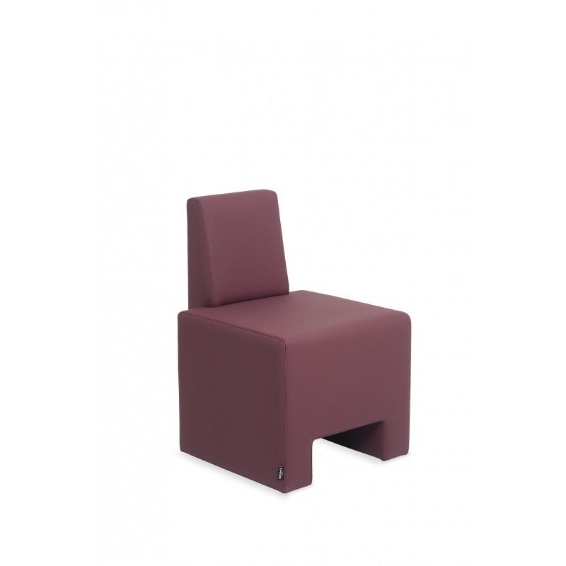 fauteuil attente Pahi Amur rouge 1 place