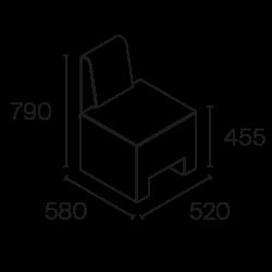 fauteuil attente Pahi Amur dimensions
