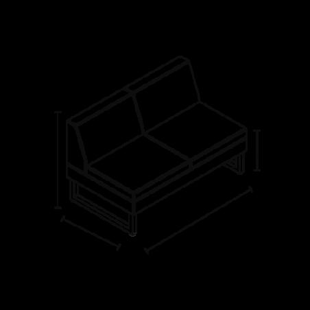 Attente Pahi Elix 2 places dimensions