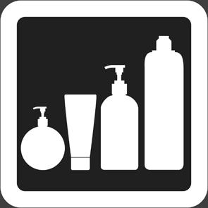 pictogramme de produits de coiffure professionnels