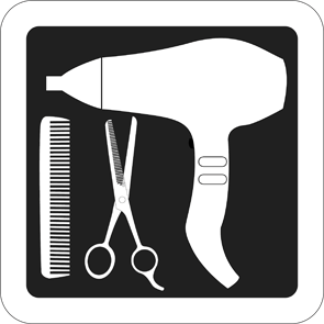 pictogramme de materiel de coiffure